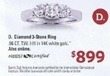Sam's Club Diamond 3-Stone 14K White Gold Ring
