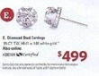 Sam's Club Diamond Stud 14k White Gold Earrings