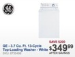 Best Buy GE 3.7 Cu. Ft. 13-Cycle Top-Loading Washer