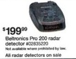 Sears Entire Stock of Radar Detectors On Sale