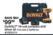 Sears DeWalt 18v Compact Drill/Driver Kit