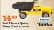 Mills Fleet Farm Tonka Steel Classics Quarry Dump Truck