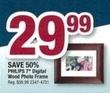 "Office Max Philips 7"" Digital Wood Frame"