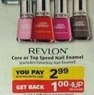 RiteAid Revlon Core or Top Speed Nail Enamel + $1 Up Reward
