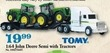 Mills Fleet Farm Tomy 1:64 John Deere Semi with Tractors