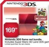Kmart Nintendo 3DS Flame Red Bundle with Super Mario 3D Land