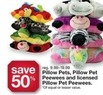 Kmart Pillow Pets, Pillow Pet Peewees and Licensed Pillow Pet Peewees
