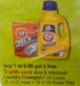Walgreens Arm & Hammer Laundry Detergent $6.99 or More