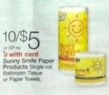 Walgreens Sunny Smile Paper Products Bathroom Tissue or Paper Towels