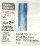Walgreens Crest 3D White Vivid Radiant Mint Toothpaste+ Register Rewards