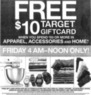 Target $10 Target Gift Card w/ $50 Purchase on Apparel, Accessories & Home