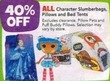 Toys R Us All Character Slumberbags, Pillows & Bed Tents