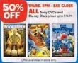 Toys R Us All Sony DVDs & Blu-ray Discs