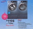 Lowes Samsung 3.6 cu ft Front-Load Washer (Blue) ENERGY STAR and Samsung 3 Series 7.3 cu ft Stackable Electric Dryer (Blue)