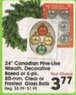 "A.C. Moore 24"" Canadian Pine-Like Wreath, Decorative Boxed or 6 Pack Clear or Frosted Glass Balls"