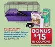 PetSmart Select All Living Things Premium Guinea Pig or Hamster Starter Kits w/ PetPerks Card
