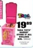 Blain's Farm and Fleet Tara Toys Barbie Store-It-All Rolling Bin