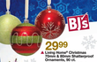 BJs Toy Catalog Living Home Christmas 70mm &amp; 80mm Shatterproof Ornaments, 90 Count