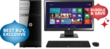 "Best Buy HP p2-1394 Desktop w/ Intel Core i3 CPU, 6GB RAM, 1TB HDD & 20"" Monitor"