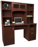 Office Max Landon Desk with Hutch, Cherry
