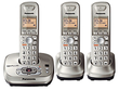 Office Depot Panasonic DECT 6.0 3 Handset Cordless Phone w/ Digital Answering Machine