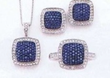 JCPenney 1/4 ct. tw. White &amp; Color-Enhanced Blue Diamond 3 Piece Set