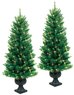 Lowes GE 2-Pack 4-ft Indoor/Outdoor Pine Pre-lit Decorative Artificial Tree with Clear Lights