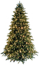 Lowes GE 7-1/2-ft Fraser Fir Pre-lit Artificial Christmas Tree with Clear Lights