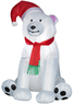 Lowes Holiday Living 3-1/2-ft Christmas Inflatable Fabric Bear