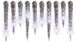 Lowes Gemmy 10' White Shooting Christmas Icicles