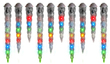 Lowes Gemmy 10-Count Multicolor Shooting Christmas Icicles