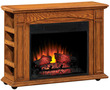 "Lowes Style Selections 37"" Premium Oak Electric Fireplace"