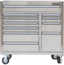 "Lowes Kobalt 11-Drawer 41"" Stainless Steel Tool Chest"