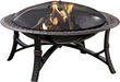 Lowes Garden Treasures 35-in Black Steel Wood-Burning Fire Pit