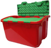 Lowes Real Organized 12-Gallon Red and Green Plastic Lidded Crate
