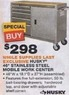 "Home Depot Husky 46"" Stainless Steel Mobile Work Center"