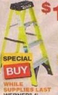 Home Depot Werner 4' Fiberglass Type I Stepladder