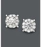 Macys Prestige Unity Diamond Earrings 14k White Gold Diamond Circle Stud Earrings 1-1/4 ct. t.w.