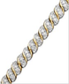 Macys 10k Gold Diamond Twist Bracelet