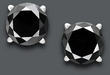 Macys 1 Ct. T.W. 14K White Gold Black Diamond Studs