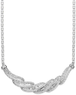 Macys 1 ct. tw. Sterling Silver Diamond Twist Necklace