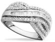 Macys Diamond Ring Sterling Silver Diamond Bypass Ring 1/2 ct. t.w.