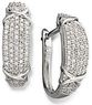 Macys Diamond Earrings Sterling Silver Diamond Hoop Earrings 1 ct. t.w.