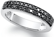 Macys Black 1/2 ct. tw. Diamond Ring in Sterling Silver
