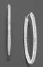 Macys Diamond Accent Hoop Earrings in 14k White Gold