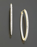 Macys 14k Gold Diamond Accent Hoop Earrings