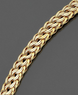 Macys 14k Gold Circle Braided Bracelet