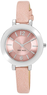 Macys Nine West Women's Pink Polyurethane Strap Watch