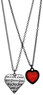 Macys Guess Double-Heart Necklace