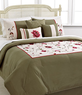 Macys Vineyard Rose 7 Piece Embroidered Comforter Set - Queen or King